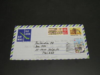 Singapore 1986 Airmail cover to finland *21011
