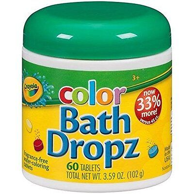 Christmas Gift Bath Toys Crayola Color Dropz 3.59 Ounce (60 Tablets)