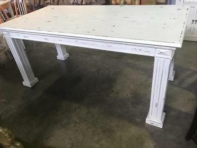 Brand New French Provincial Dining Table . Distressed Painted In  Paris Cream
