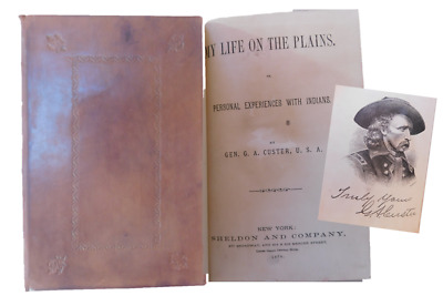 """General George Custer -1874 Rare 1st Edition """"My Life On The Plains"""","""