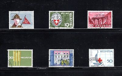 Switzerland 1963 Publicity issue of 6 SG 670/5 Used