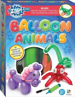 Make Your Own Balloon Animals Making Kit Kids Modelling Set With 48 Page Book