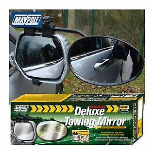Maypole Deluxe Extension Towing Convex Glass Mirror