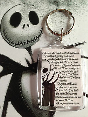 porte clé Jack nightmare Sally et Jack - key ring jack and Sally two side