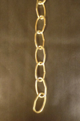 New 3' Brass Plated 8 Gauge Steel Chandelier Fixture Oval Lamp Chain #FC992