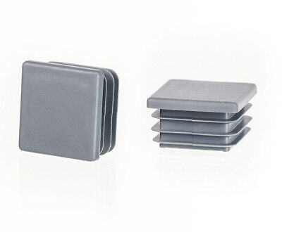 grey End Caps Square Plastic Blanking Tube Pipe Inserts Plug Bung Box Section
