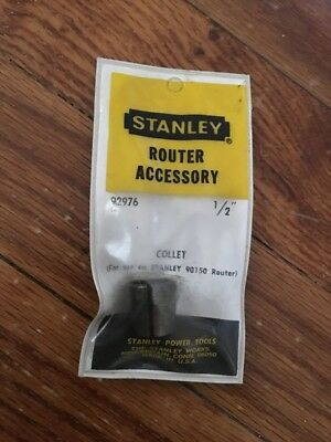 "NEW Stanley 1/2"" Collet 92976 for Stanley Router Models/Part # 90150"