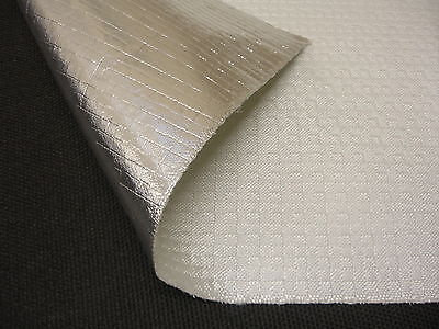 Exhaust Heat Shield Aluminised Glass Fibre Cloth - 1000mm x 500mm wide
