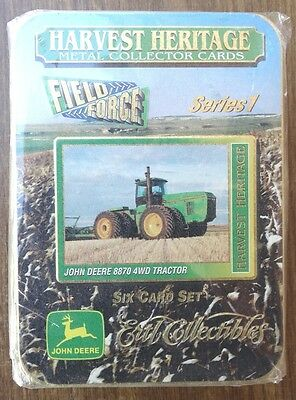 Ertl Harvest Heritage JOHN DEERE Field Force Trading Cards in Tin Sealed 1996