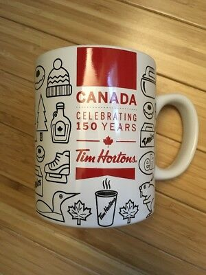 BRAND NEW Tim Hortons CANADA 150 Years Ceramic Mug Ltd Edition, 2017 US seller
