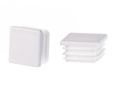 white End Caps Square Plastic Blanking Tube Pipe Inserts Plug Bung Box Section