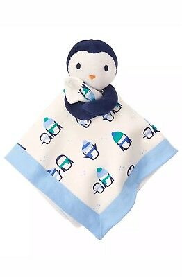Gymboree New Baby Boy Blue Penguin security blanket