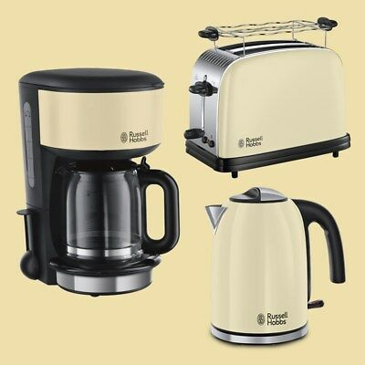 Russell Hobbs Colours Plus+ Classic Cream Kaffeem./ Toaster/ Wasserkocher 1,7 L