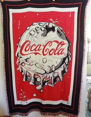 NWT Rare Coca Cola Coke Bottle Cap Afghan THROW BLANKET