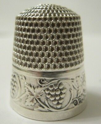 Beautiful! Sterling Silver Thimble