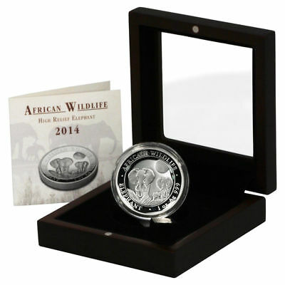 2014 Somali Elephant 1 oz. Silver Proof HIGH RELIEF | African Series | OGP & COA