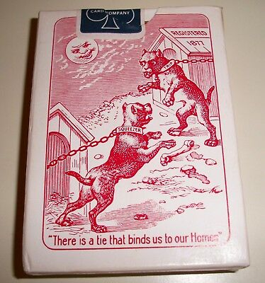 Vintage Squeezers Sealed Bulldog Standard Size Cambray Finish Playing Cards#9352