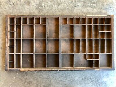 Antique Letterpress Printers TYPE TRAY