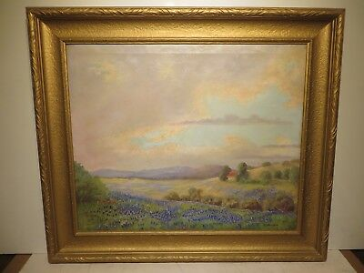 "24x30 org. oil painting on canvas by C. Amaya of ""Tx. Bluebonnet Hill Country"""