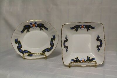 "2 Paragon ""NOVA SCOTIA TARTAN"" Dishes - Bone China England By Appointment to H.M"
