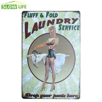 Laundry Service Metal Sign