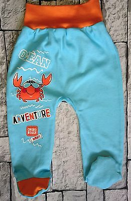 """*NEW* """"OCEAN ADVENTURE"""" *12-18 Months* Baby Boys Trousers with feet 100% Cotton"""