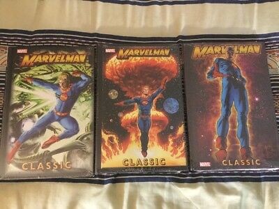 MARVELMAN CLASSICS Volumes 1 2 3 Sealed Miracleman Marvel HC Comic