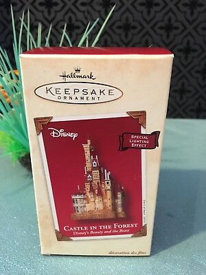 MIB Hallmark Ornament 2002 Disney CASTLE IN THE FOREST Beauty and the Beast