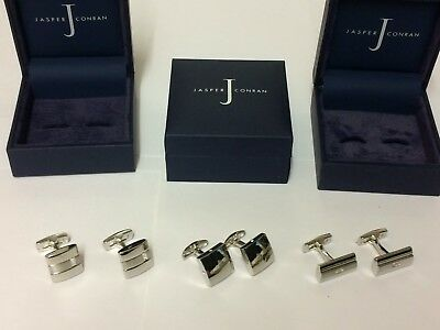 Job Lot Jasper Conran Cufflinks 3 pairs all Boxed RRP £45.00 A Set