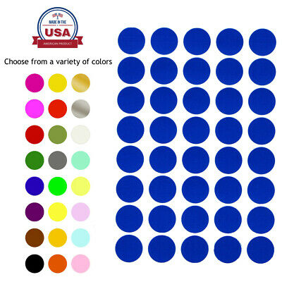 "Round Colored Stickers 19mm Labels Circle 3/4"" Inch Marking Craft Dots 1000 Pack"
