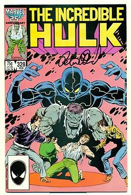 The Incredible Hulk 328 FN Peter David signed first story on legendary run 1987