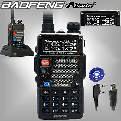 Baofeng x Misuta UV-5R UHF/VHF FM Walkie Talkie Dual Band 2 way Ham Radio +Cable