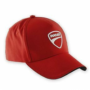 Genuine Ducati Men's Company Cap Red 987688705 - Custom Embroidery