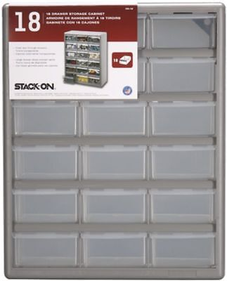 18 Drawers Storage Cabinet for Hobby Supplies Workshop Hardware No Spill Tab