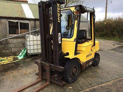 Hyster Forklift truck diesel counter balance 2.50 XM triple full free lift mast