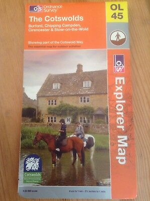 The Cotswolds by Ordnance Survey (Sheet map, folded, 2009) OL45