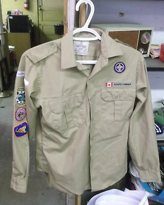 Canadian  Scouts Patches On Shirt, In Vg Condition (Alc)