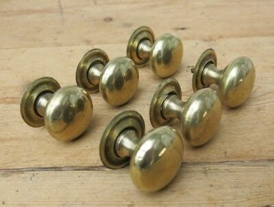 SET OF 6 SMALL Reclaimed BRASS Drawer Knobs / Handles / Pulls
