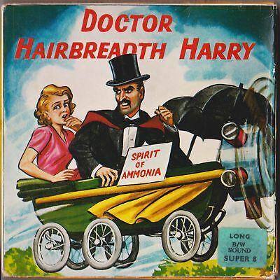 Dr Hairbreadth Harry Super 8 Film Original Box Paramount Vintage Black & White