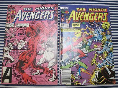 Avengers 238 242 245 246 lot run set Infinity Gauntlet Movie copper first series