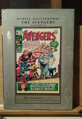 Avengers Marvel Masterworks Vol. 8 Hardcover   Roy Thomas  John and Sal Buscema!