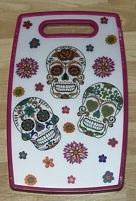 NEW Day Of The Dead Sugar Skull PINK Cutting Board