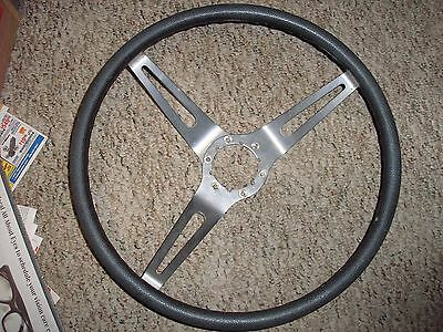Nice Stainless 1970 BUICK SKYLARK GS 3 spoke steering wheel comfort grip Blue