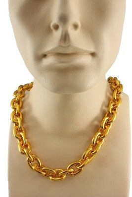 Costume Gold Plastic Chain Mr T MC Hammer Elvis Chain Costume Necklace
