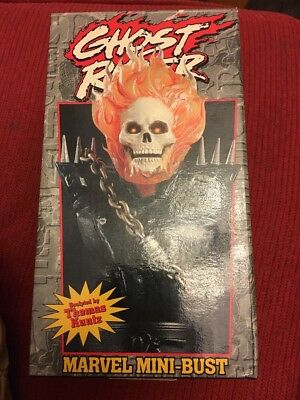MARVEL BOWEN GHOST RIDER MINI BUST sculpted by Thomas Kuntz