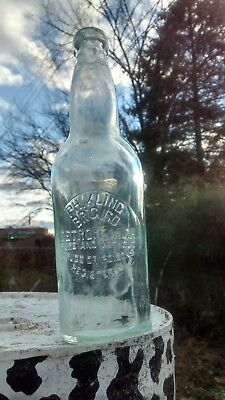 Antique Blob Top Bottle PH Kling pure w/o drugs and poisons Detroit Michigan