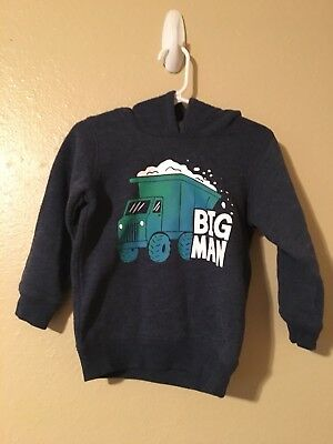 Jumping Beans Size 24M Hoodie; Truck; Blue