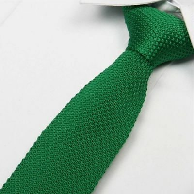 Pure Knitted Fashion Knit Slim Woven Narrow Necktie Tie
