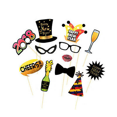 New Years Eve 2018 Funny Party Events Photo Booth Props Event Photography 10pcs