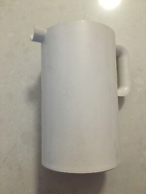 HELLER Designed By Massimo Vignelli MCM  WHITE Pitcher Barware Retro RARE
